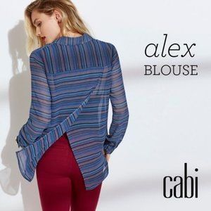 CAbi | Limited Edition Alex Back Slit Blouse Small